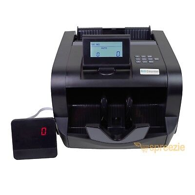 Black Bill Counter Lcd Money Counting Cash Machine Counterfeit Detector Uv Mg