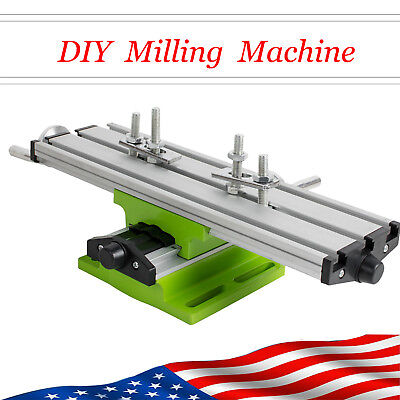Us 2 Axis Cross Sliding Milling Compound Mini Working Table Bench Drill Vise Diy