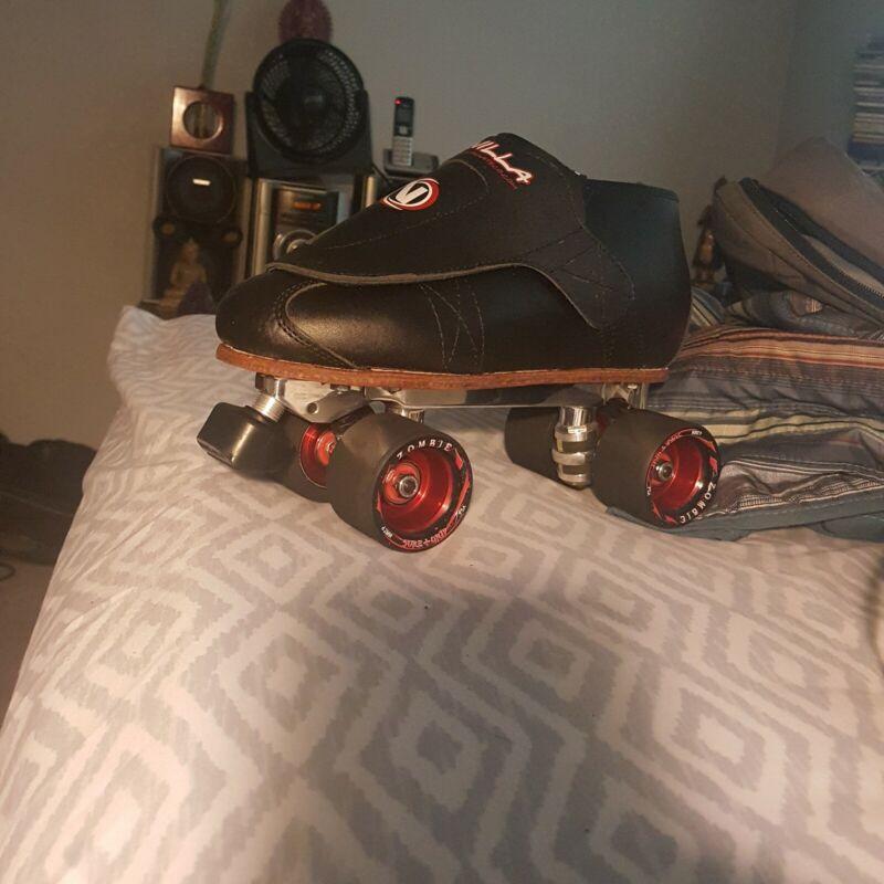 black VNLA custom quad speed/jam skates
