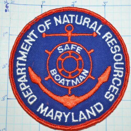 MARYLAND DEPT OF NATURAL RESOURCES SAFE BOATMAN VINTAGE PATCH