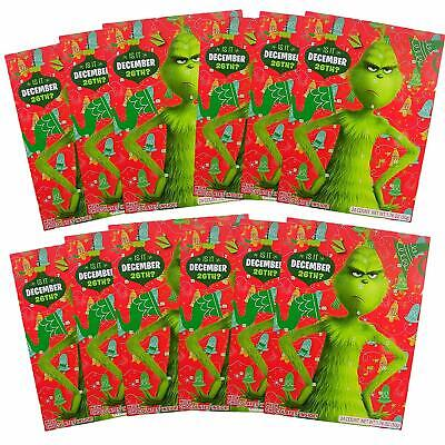 Dr. Seuss' The Grinch Christmas Holiday Countdown Advent Calendar, Pack of 12