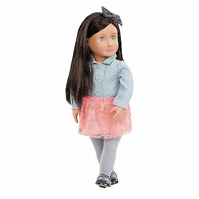 "New Our Generation ELYSE 18"" Doll Green Eyes fits American Girl Grace Thomas"