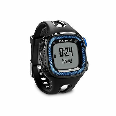Garmin Forerunner 15 Gps Fitness Sport Watch Large Black Blue 010 01241 00 New
