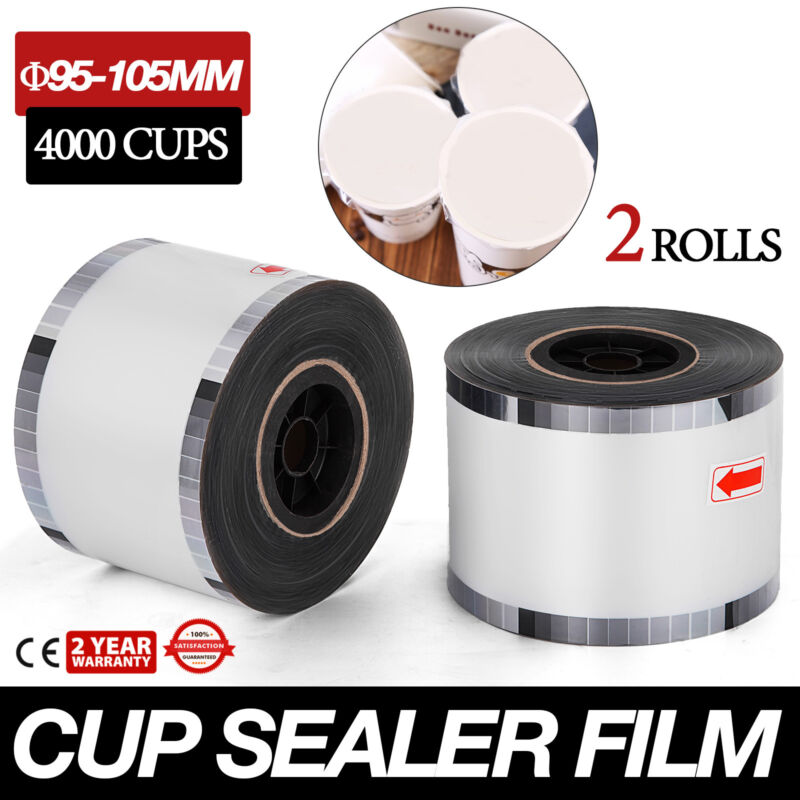 Cup Sealer Film Clear Boba Bubble Tea Milk Sealing PP 8000 Cups 90mm-105mm US