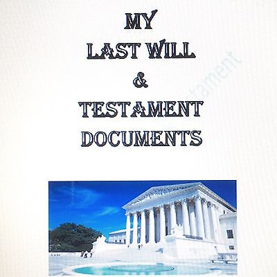 Last Will Testament Forms Kit - Any State In Usa