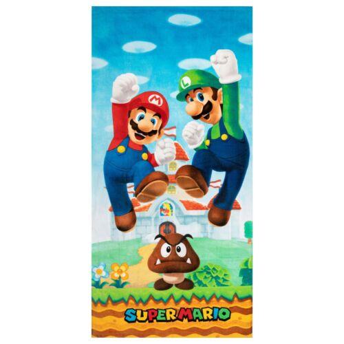 Super Mario and Luigi Super Soft Cotton Beach Towel, 28 x 58, Play For Leaps