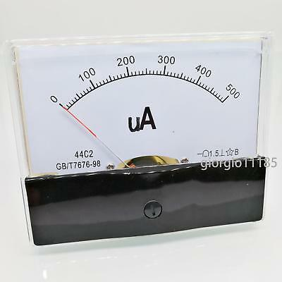 Us Stock Dc 500ua Class 1.5 Accuracy Analog Amperemeter Panel Meter Gauge 44c2