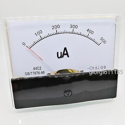 Us Stock Dc 500ua Class 1.5 Accuracy Analog Amperemeter Panel Meter Gauge 44c2