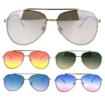 Oceanic Gradient Lens Rimless Luxury Designer Fashion Aviator (Rimless Aviator Sunglasses)