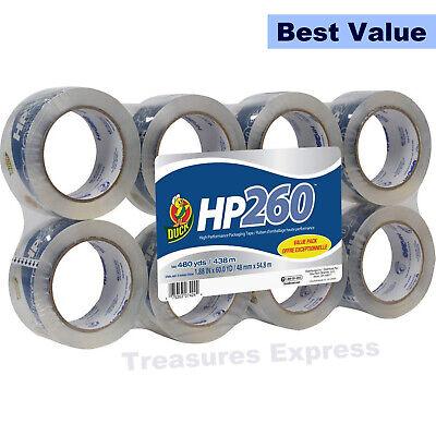 Duck HP260 Packing Tape Refill Heavy Duty 1.88 Inch x 60 Yard Clear 8 Rolls