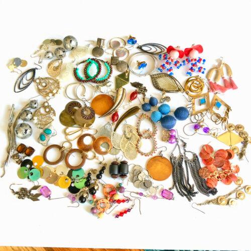 Grab a bag Earrings HUGE lot jewelry findings bulk crafts mosaic vintage to now