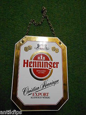 Henninger Export Zapfhahnschild 219
