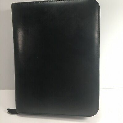 Day-timer Black Leather Classic Desk Planner Organizer Fits Franklin Covey
