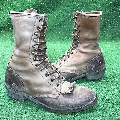 DOUBLE H AG7 PACKER HH MENS BROWN LEATHER LACER/WORK BOOTS SZ 10