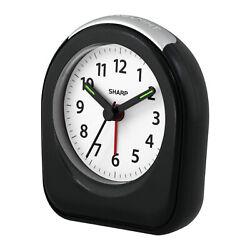 Sharp QUARTZ ANALOG ALARM CLOCK Ascending Alarm BACK LIGHT ON DEMAND AA-Battery