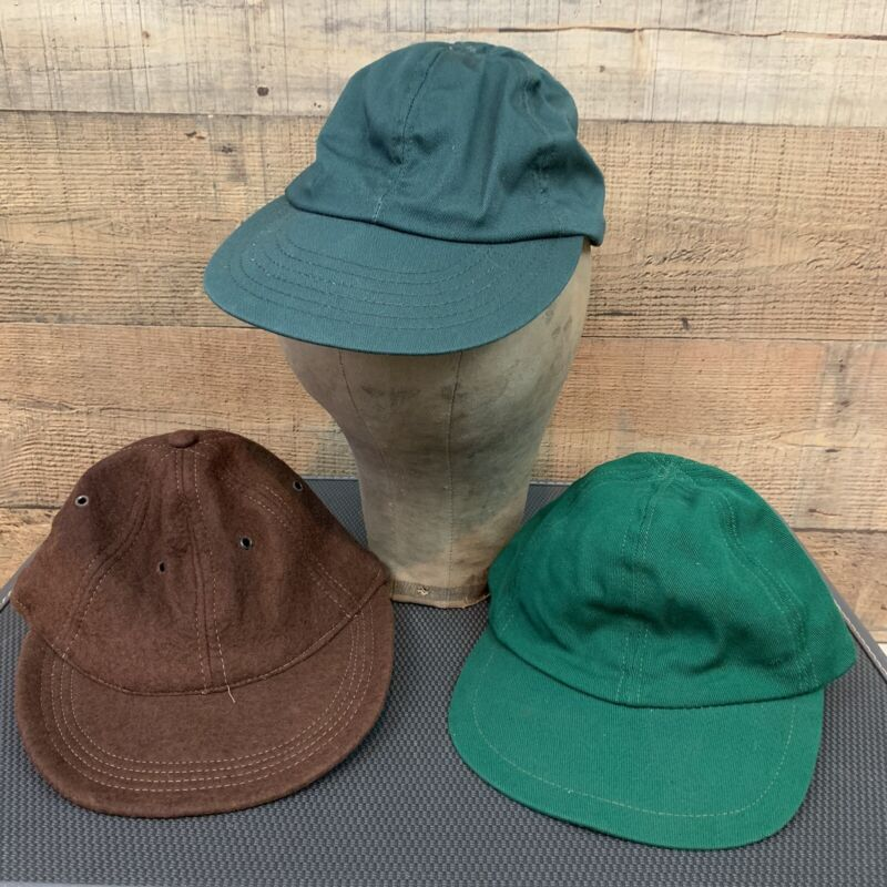 Lot Vintage 1940s Hat Cap Workwear Wool Cotton Hats