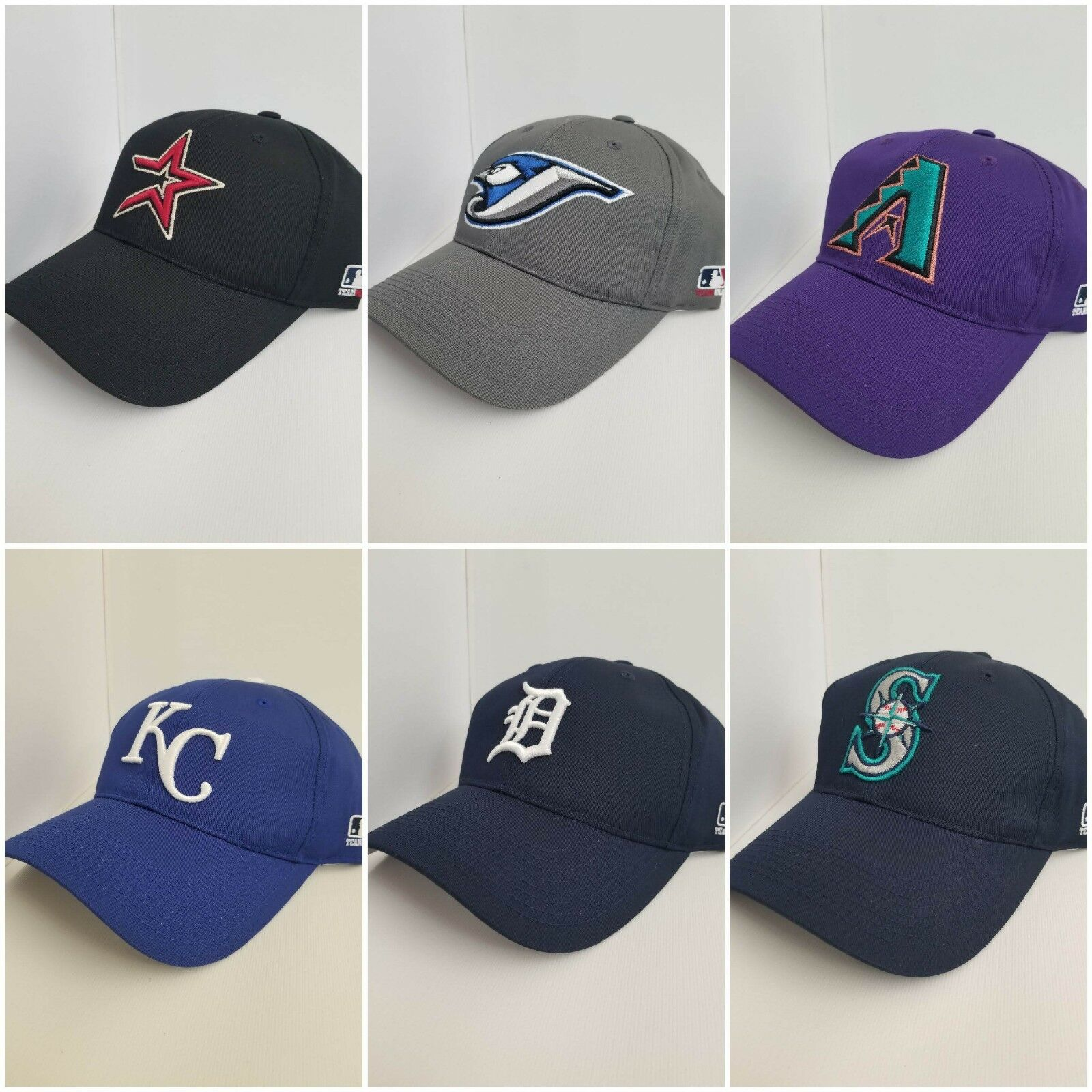 MLB Replica Adult Baseball Cap Hat Licensed Astros, Brewers,