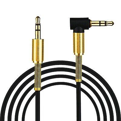 Kopfhörer-anschluss (Audio Stereo Kopfhörer Anschlusskabel 1m 3,5mm Stecker > Stecker Schwarz Gold)