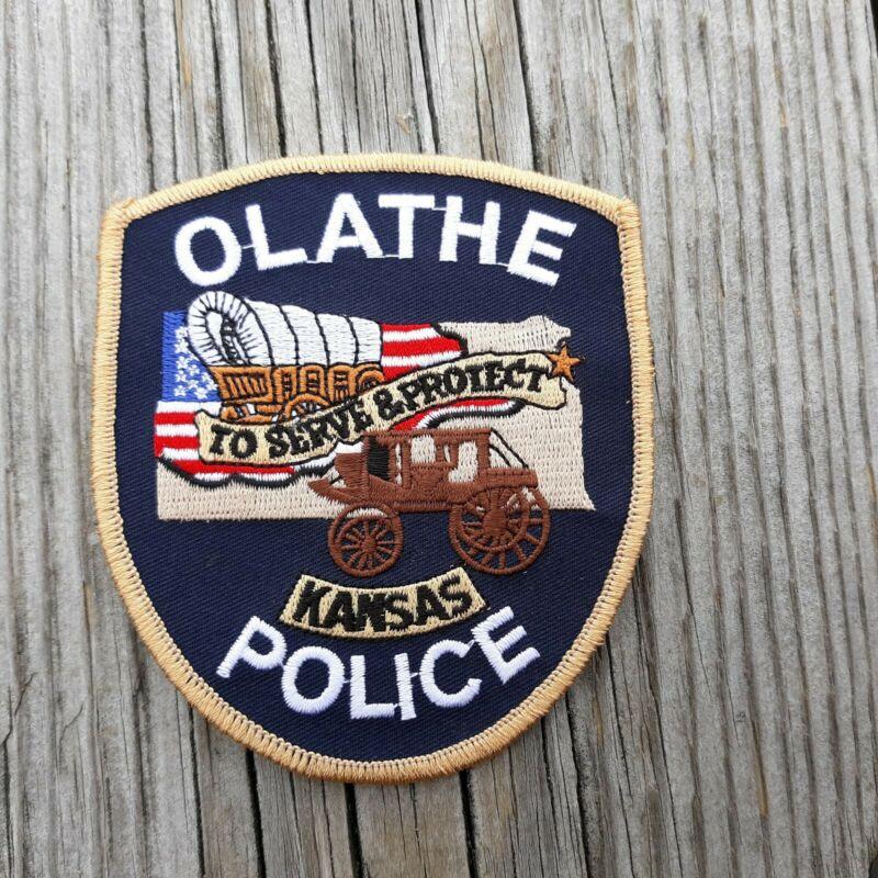 "Olathe KS Kansas Covered Wagon 4"" Police Patch"