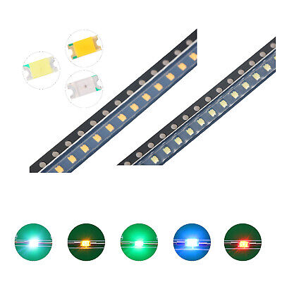 100pcs 5colors 12063216 Smd Smt Led Diodes White Red Blue Mix Kit Lamp Lights