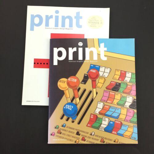LOT of 2 PRINT Graphic Art - 2002 Interactive Design & European Design Annual