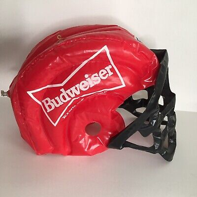 Budweiser NFL Inflatable Red Football Helmet RARE Blow Up Advertising - Blow Up Football Helmets