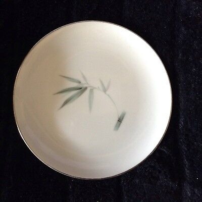 Sango Fine China BAMBOO Bread Plate 6312 Platinum Trim Vintage ~ Set of 6