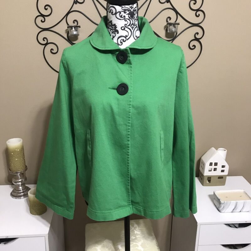 Hatch Maternity Green Babydoll Jacket M