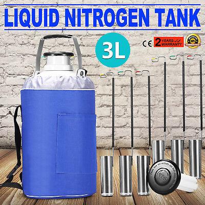 3l Liquid Nitrogen Container Ln2 Tank Dewar With Straps Cryogenic Biomedical
