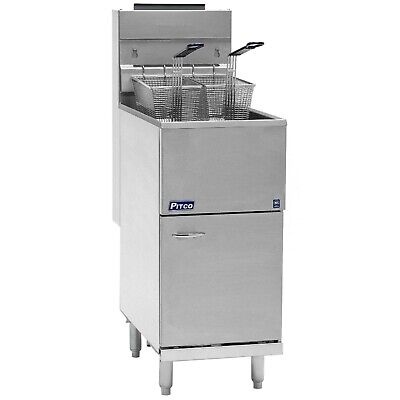 Pitco Natural Gas Fryer 40 - 45 Lbs 4 Burners Stainless Steel Tank 40d
