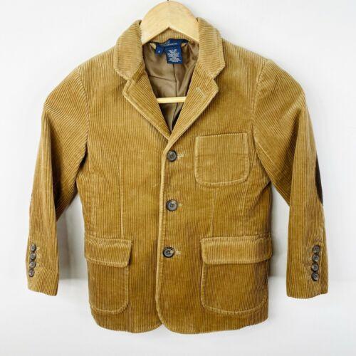 Polo Ralph Lauren Boy Sz 6 Brown Corduroy Jacket Blazer Sport Coat Elbow Patches