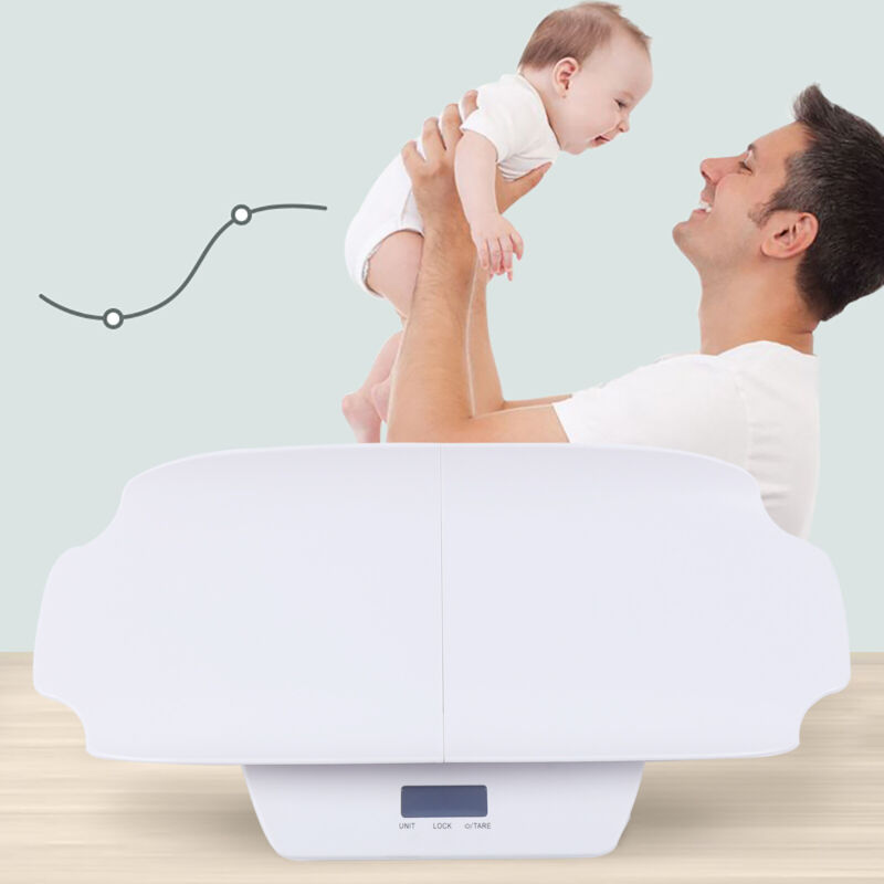 Split Mother&Baby Weight Scale Large Screen Display+ Measuring Ruler 61*32*8cm
