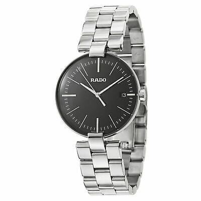 Rado Coupole L Black Dial Men's Stainless Steel Watch R22852163