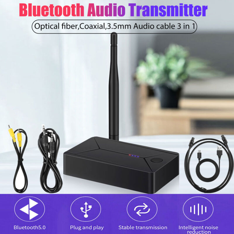 3-IN-1 Coaxial Optical Bluetooth Transmitter Audio Stereo Wireless Adapter 3.5mm