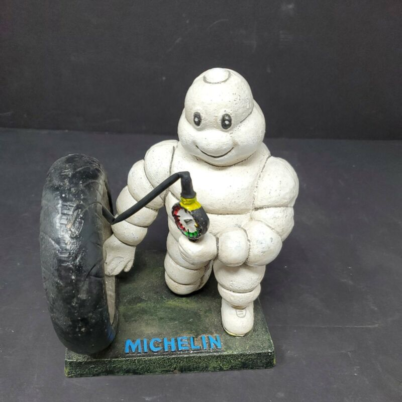Michelin Man Whale London 1949 Airing Tire Vintage Cast Iron Advertising Statue