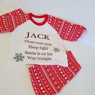 Personalised Christmas Kids Pajamas.  ()