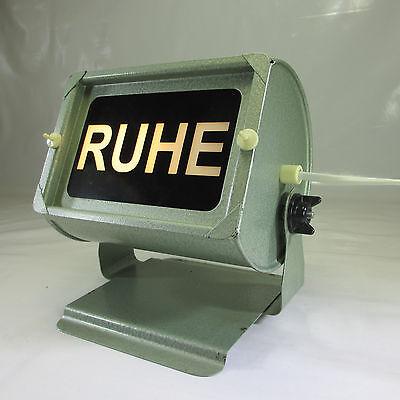 50er - 60er JAHRE HINWEIS TISCHLAMPE AUS METALL WANDLEUCHTE RUHE HINWEISLEUCHTE