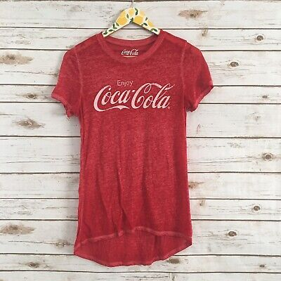 Coca Cola Women's S Red Short Sleeve Tee Top Shirt Size Small