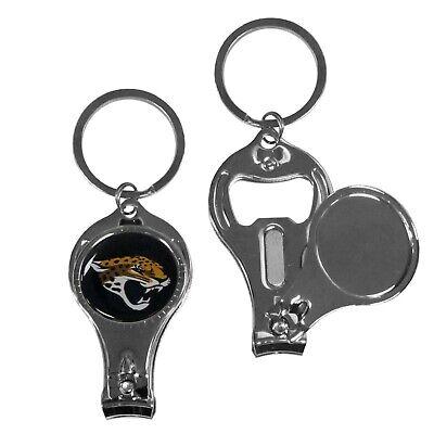 New NFL Jacksonville Jaguars 3 in 1 Keychain Nail Clipper Bottle Opener Football Jacksonville Jaguars Keychain