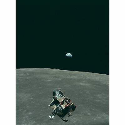 Apollo 11 Moon Lunar Module flight space NASA art print picture FREE BONUS PHOTO