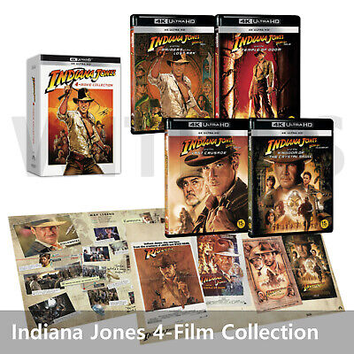 Indiana Jones 4-Movie Collection 4K Ultra HD Blu-ray All Collectible Packaging