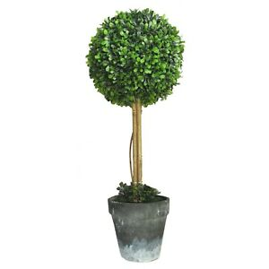 Artificial Bay Tree Topiary Ball with pot .......49cm HIGH