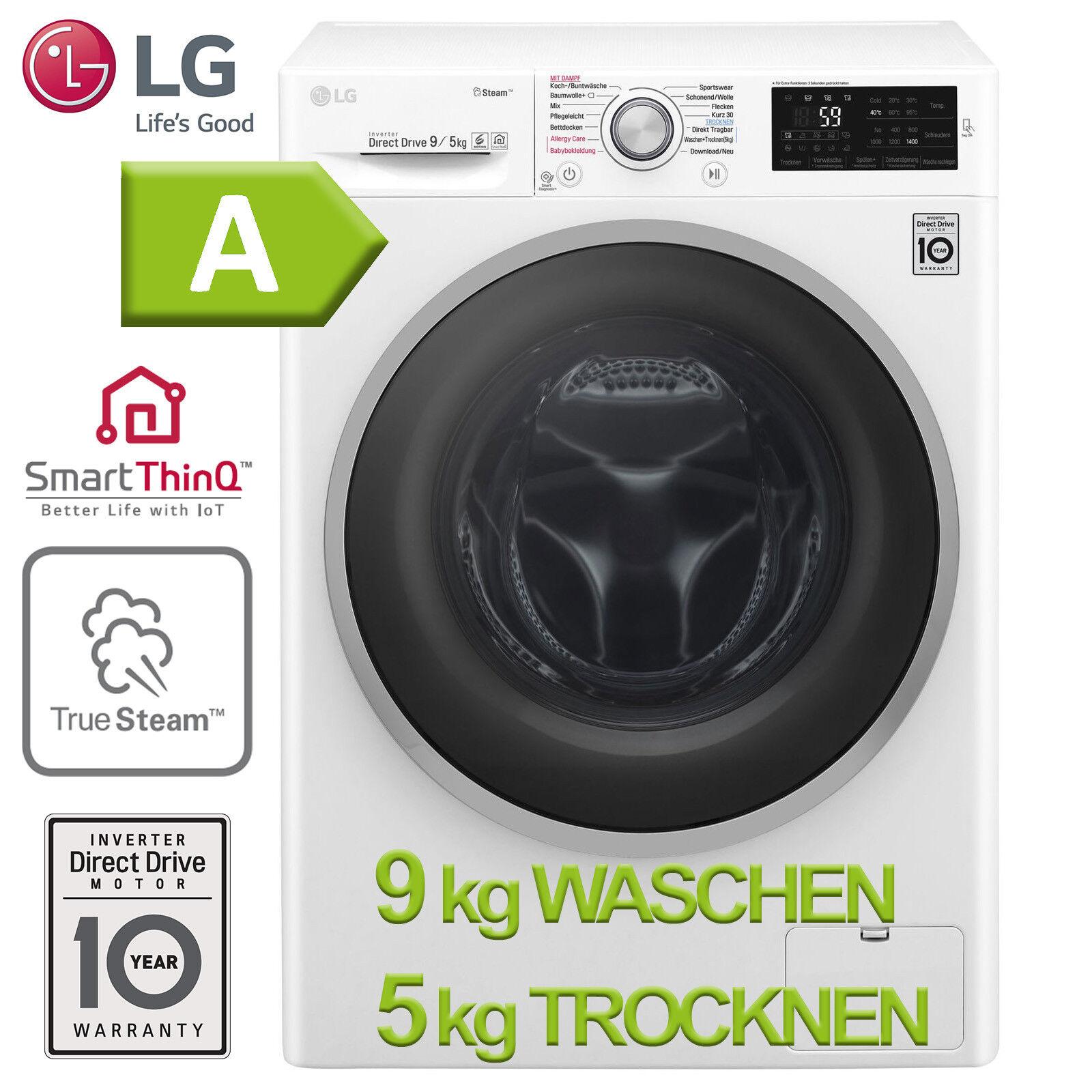 Waschtrockner 9+5 kg Waschmaschine Trockner A 2in1 Wäschetrockner LG Frontlader