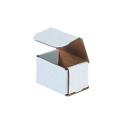50 - 3x2x2 Small White Corrugated Cardboard Packaging Shipping Mailing Box Boxes