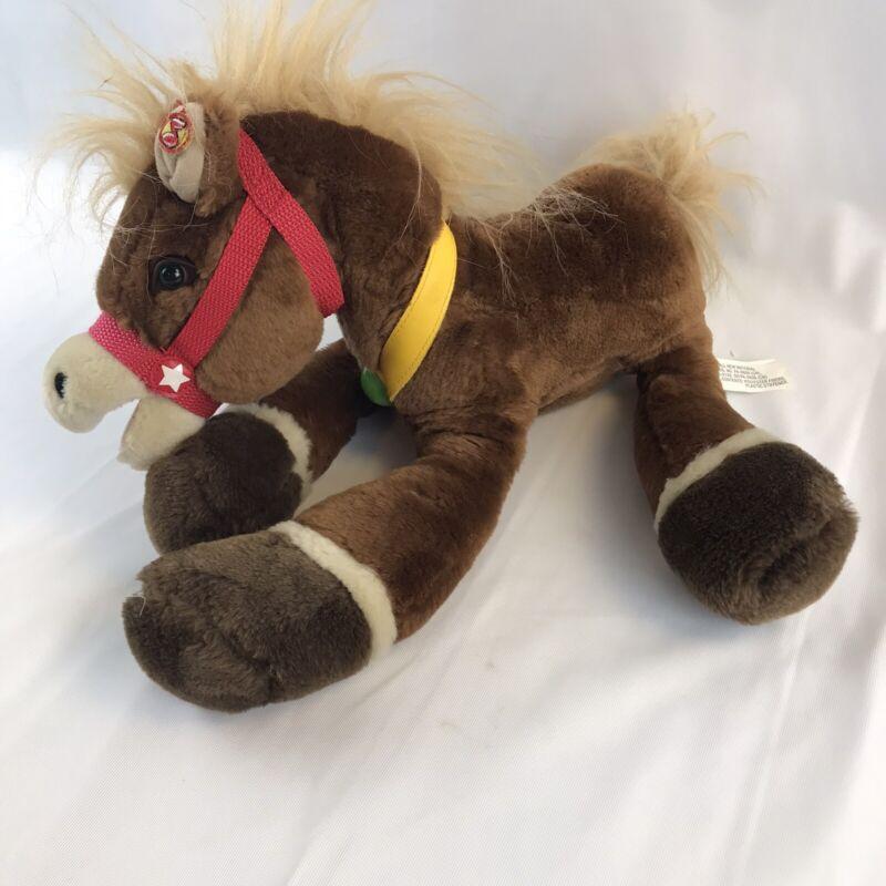 "14"" WELLS FARGO Horse Plush Bank Mack Pony 2012 Stuffed Animal Not Tested"