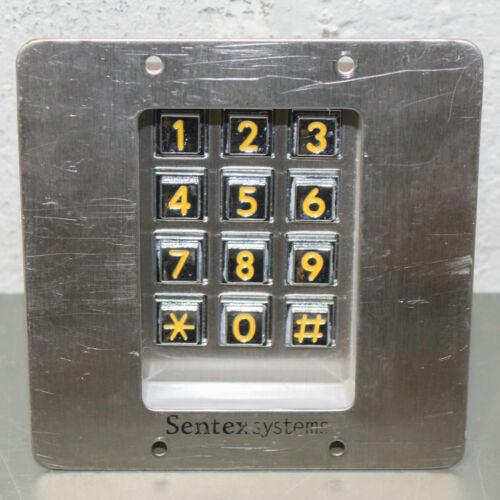 Sentex Systems Minikey Digital Keypad, 12V AC/DC, 12 Button Numerical, Stainless