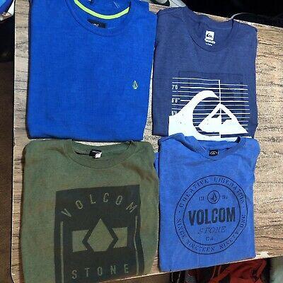 LOT #963 Volcom Quiksilver Surf Men Tee Shirts Size XL (lot Of 4 Shirts)