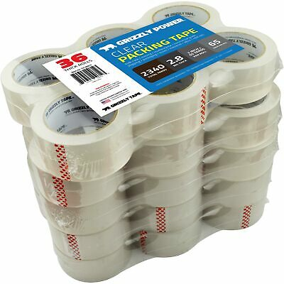 Grizzly Power Clear Packing Tape Refill Rolls for Shipping, Moving, Packaging