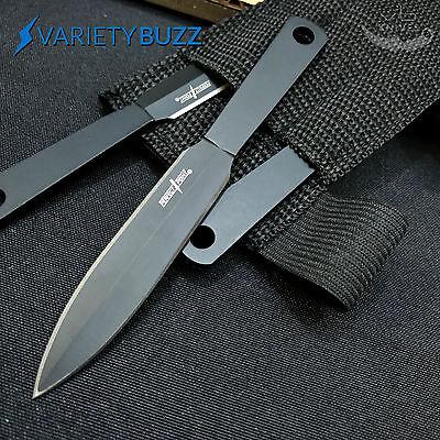 THROWING TARGET KNIFE 3 Pieces Outdoor Thrower Knives Set w/ Nylon Sheath Naruto