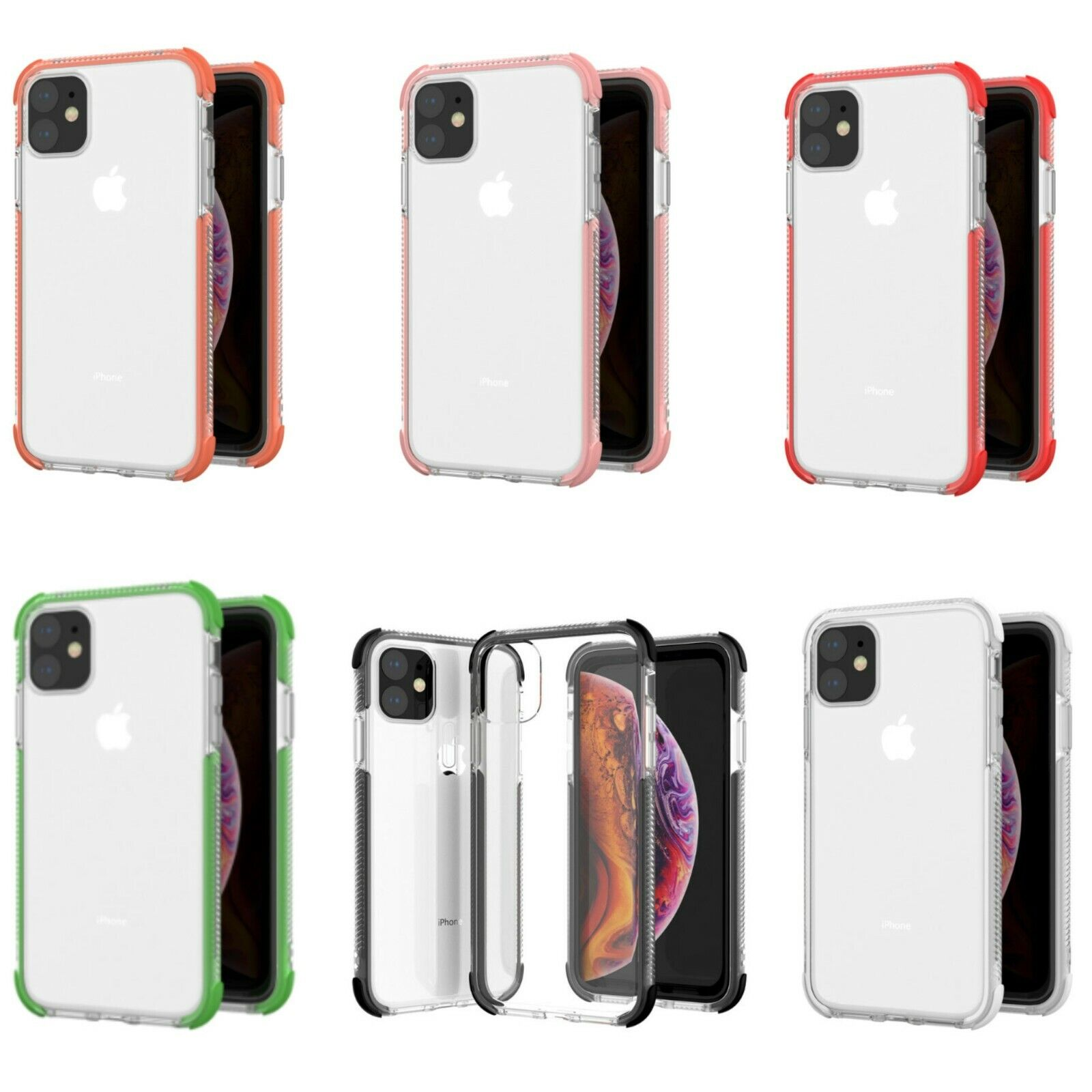 IPhone 11,Pro, XS,XR Max, Shockproof Case with  Protective G